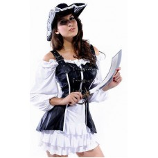 Adult Female Women Luxury 4 Piece PirateCostume Mediu Fancy dress costume outfit